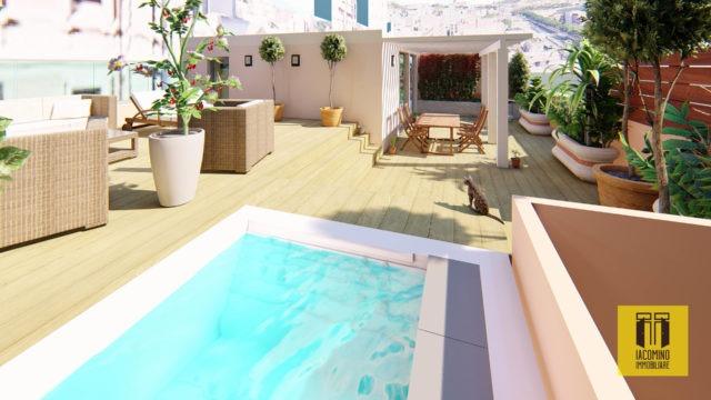 Cagliari, pressi porto, nuovo trivano con terrazza a livello
